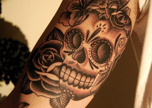 Tattoo art designs: Sugar Skull by Ollie Munden