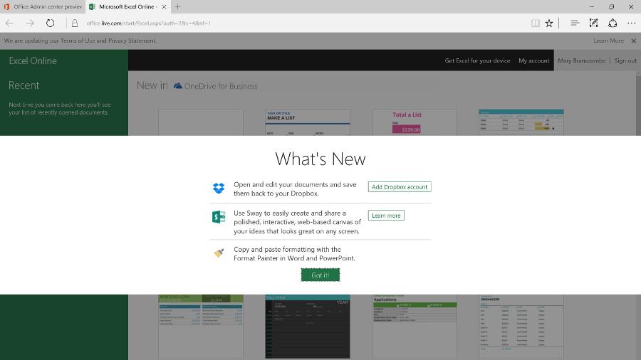 Office Online updates