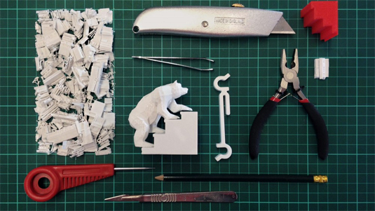 3D printed bear GIF