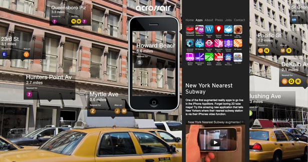 One of the first AR apps in the App Store, New York Nearest Subway makes use of the iPhone's internal gyroscope