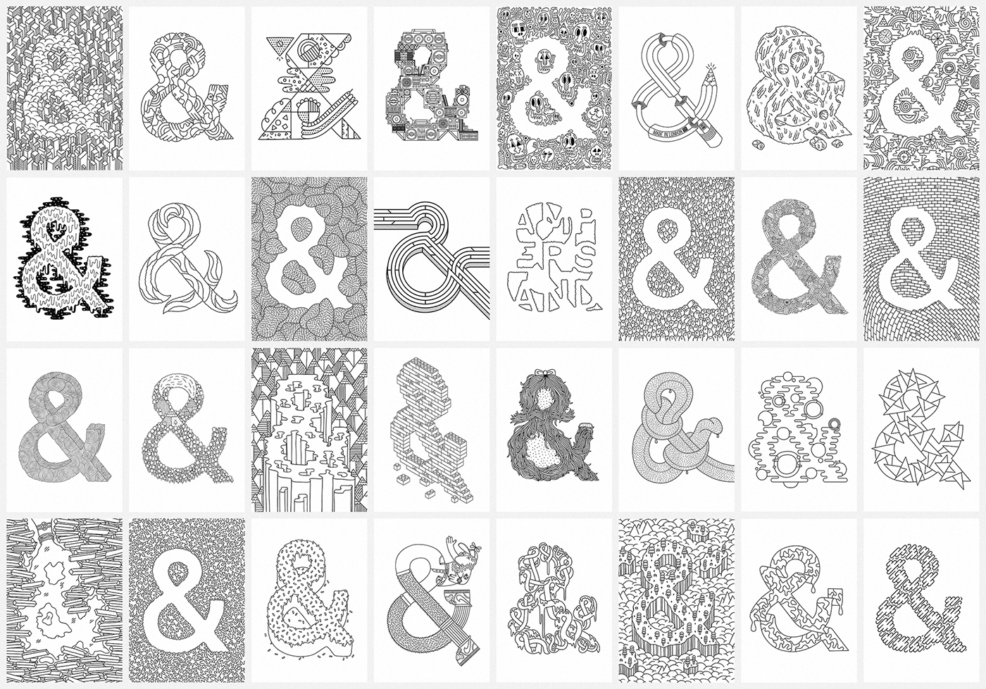 Ampersand colouring book