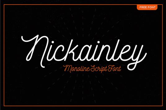 Free font: Nickainley