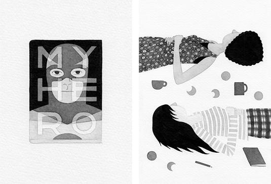 Ink drawings – Eleni Kalorkoti