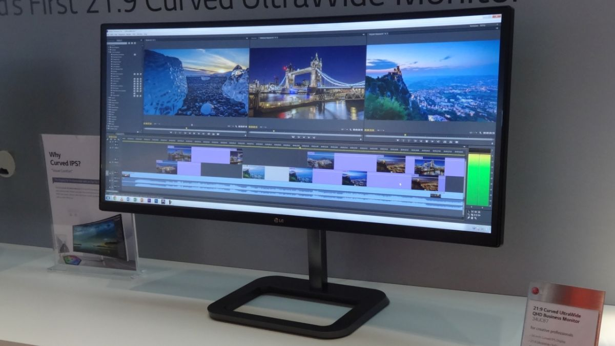 Lg Introduces 34 Inch Curved Business Monitor Techradar