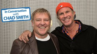Alex Lifeson and Chad Smith photographed at the Sunset Marquis West Hollywood CA April 2013