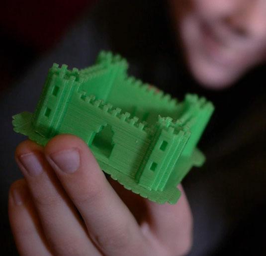 Printcraft 3D printed Minecraft