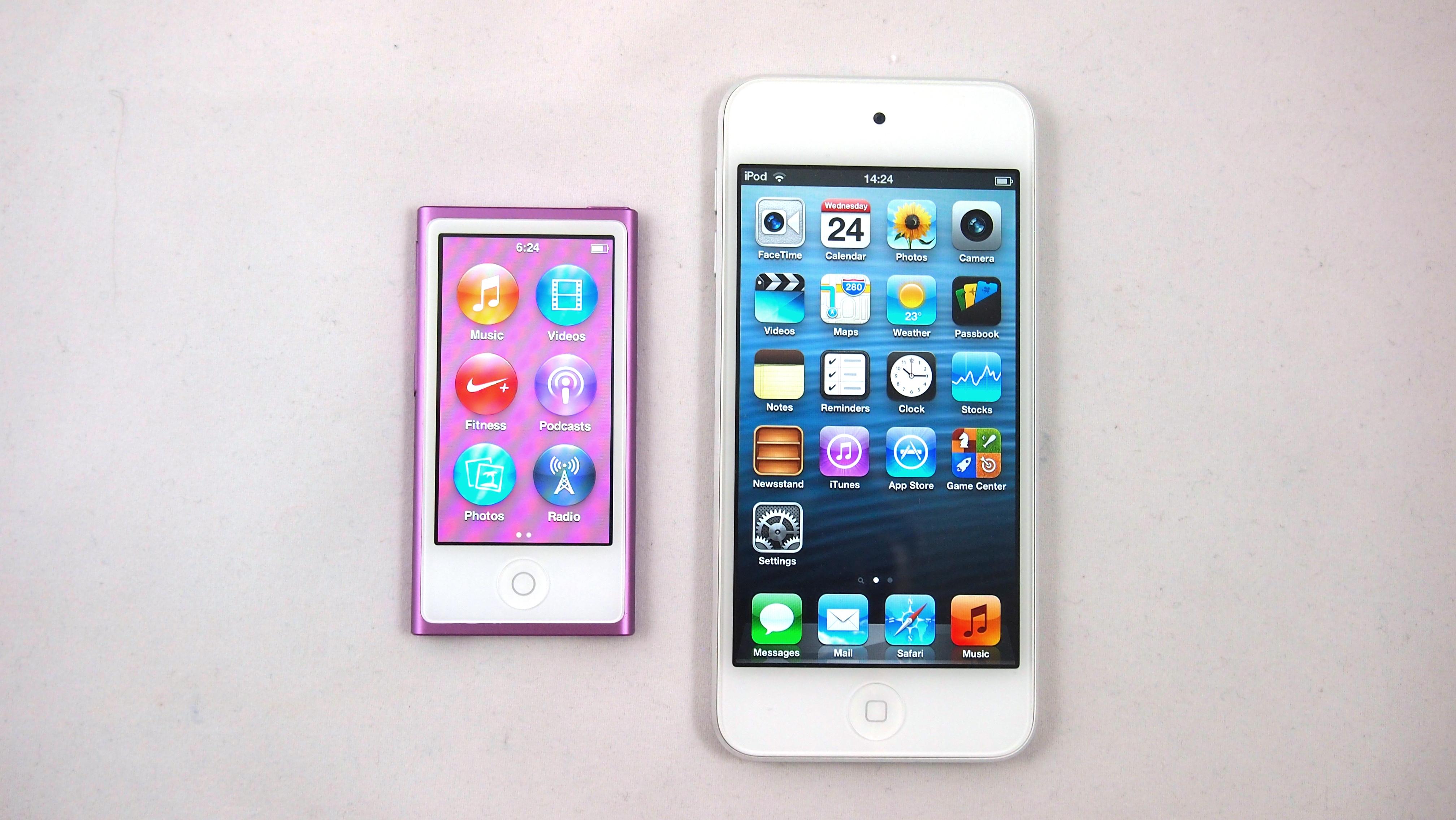 ipod touch 5th generation vs ipod nano