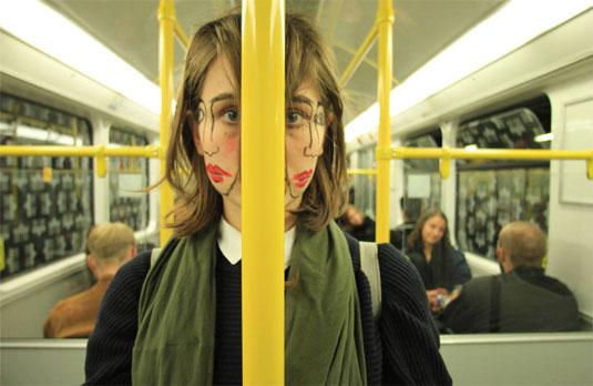 double faced girl