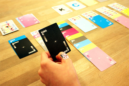 custom playing cards: CMYK cards