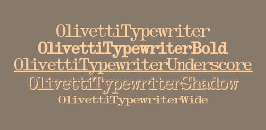 Typewriter fonts: Olivetti Typewriter