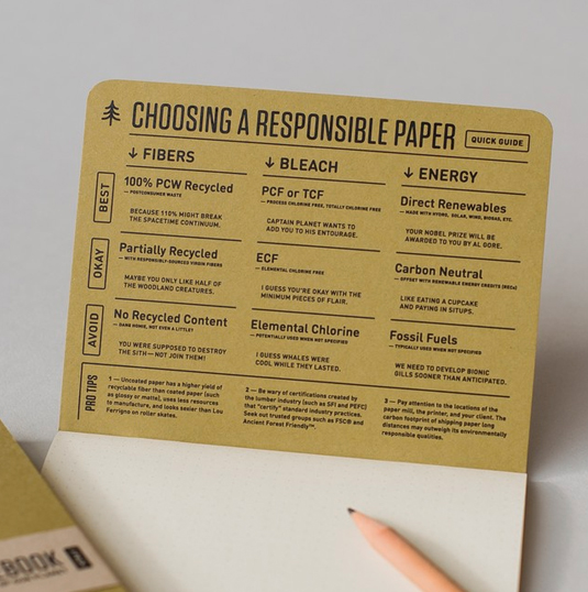 environmentally friendly notepad