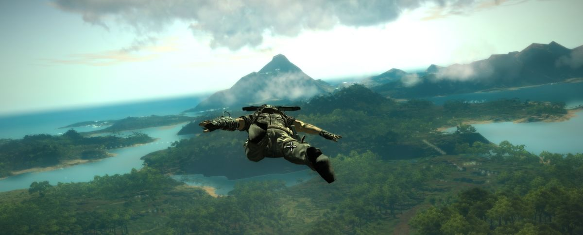 Now Playing: A floating creep in Just Cause 2's Superman ...