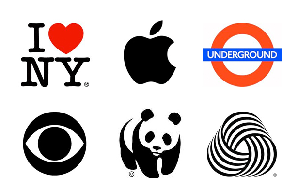 Logo design - Apple, London Underground, CBS, WWF, Woolmark, I love NY