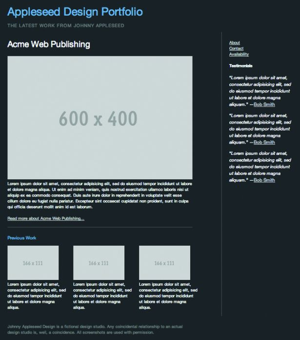 the static template for the homepage we'll use as the starting point