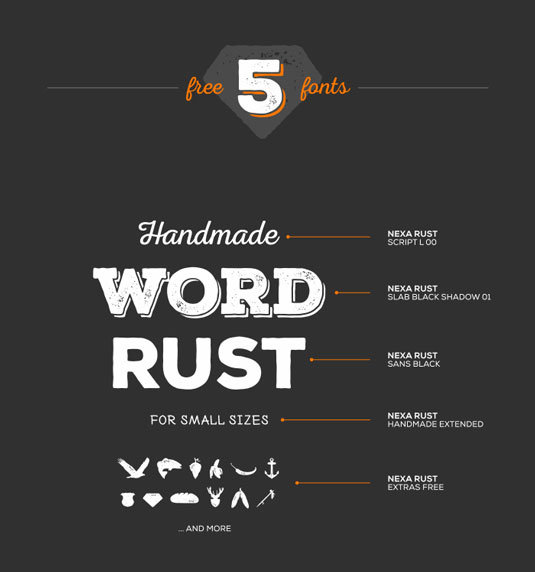 Free fonts: Nexa Rust
