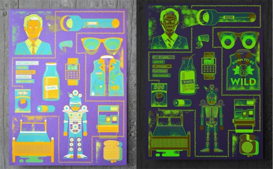 glow in the dark posters