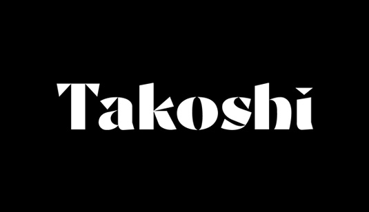 Takoshi font