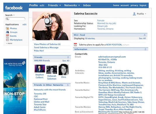 sabrina facebook cv