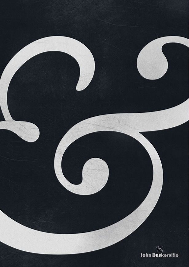 Typoster - Ampersand by Baskerville