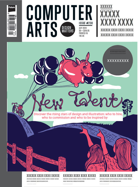 Cover design for CA's New Talent issue by Katya Wagner