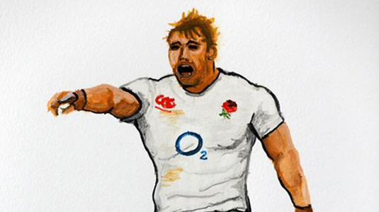 Henry Fraser rugby portrait
