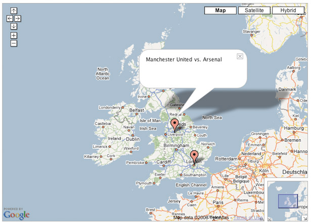 Google Maps API: Initial text bubble