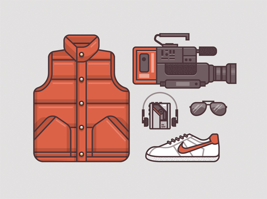Back to the Future illustrations