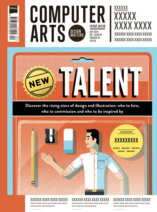 Cover design for CA's New Talent issue by Tommy Parker