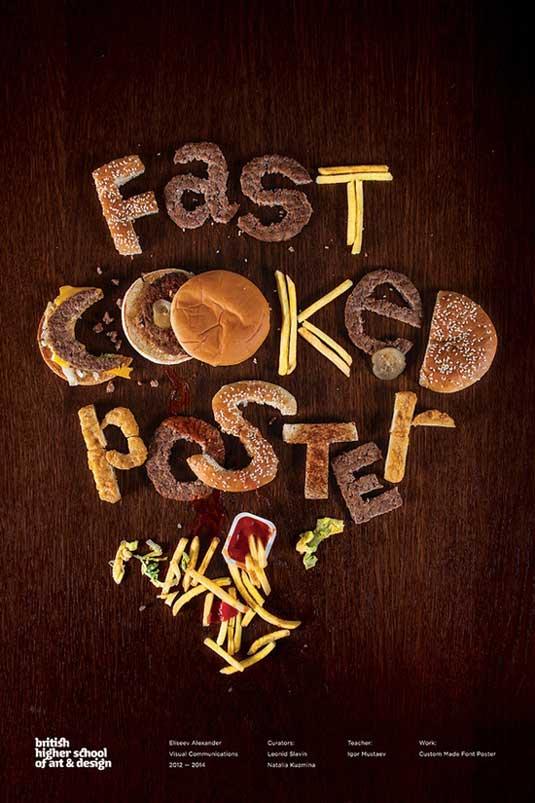 Alexander Eliseev fast food poster