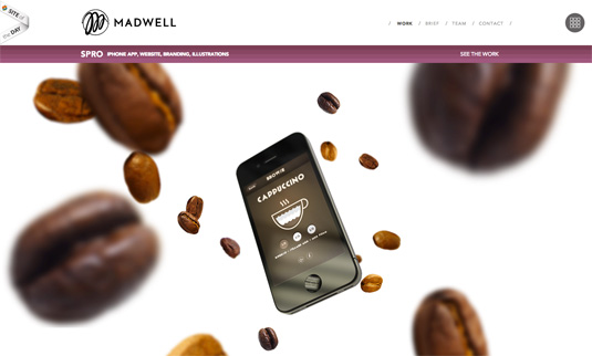 parallax scrolling: Madwell