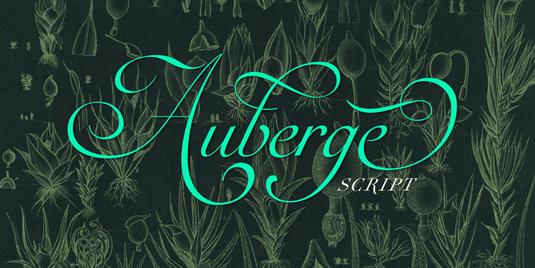 Auberge Script font