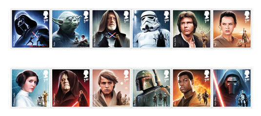 full set of star wars stamps