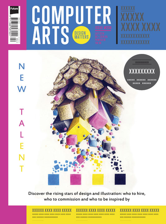 Cover design for CA's New Talent issue by Ben Pickup