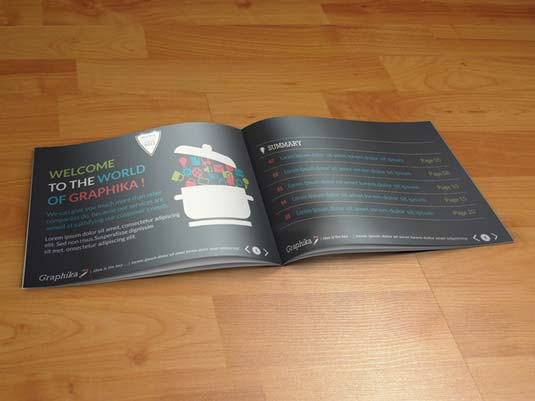 Brochure templates: Graphika booklet