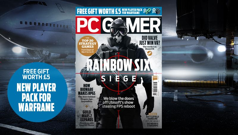 pc gamer uk may issue rainbow six siege pc gamer. Black Bedroom Furniture Sets. Home Design Ideas