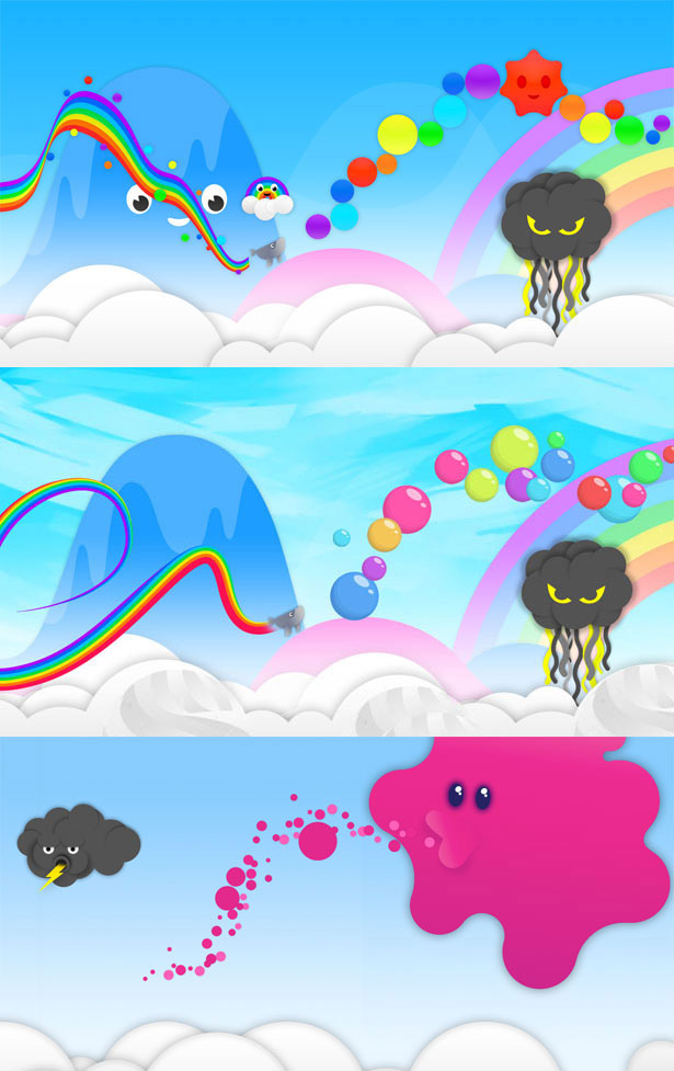 Whale Trail backgrounds
