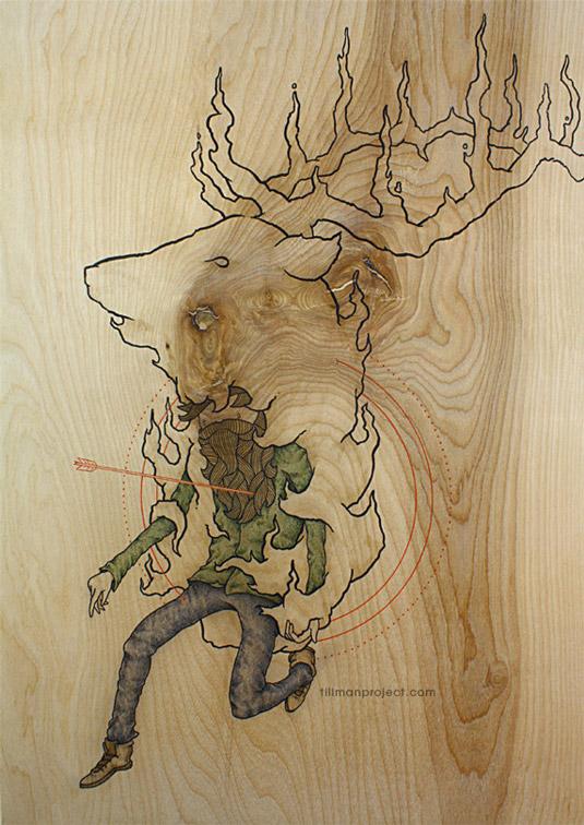 Pen and ink artist swaps his sketchbook for wood ...