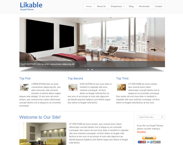 Drupal themes - Likable