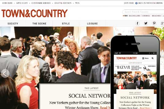 Responsive news websites: Town&Country