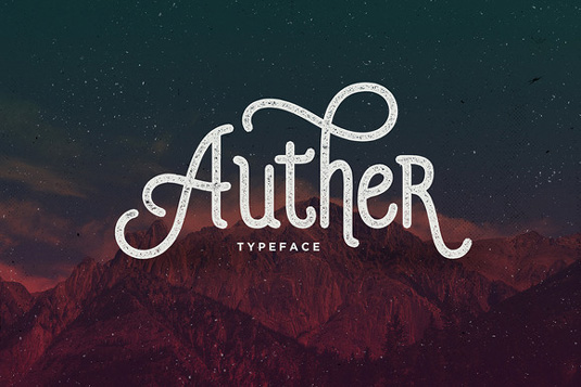 Auther font