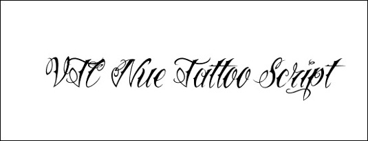 Tattoo fonts: VTC Nue Tattoo Script