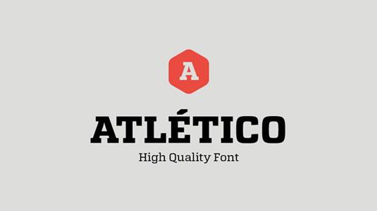 Free font: Atletico