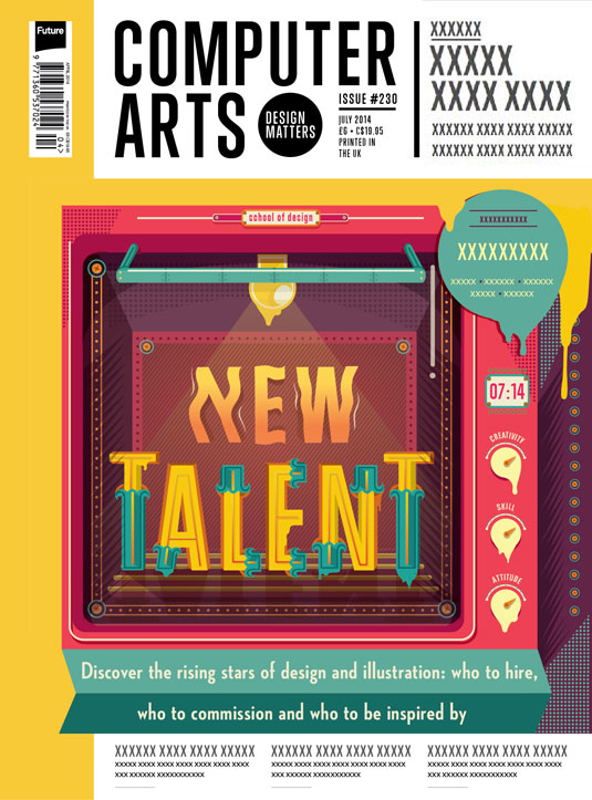 Cover design for CA's New Talent issue by Olivia Ariferiani