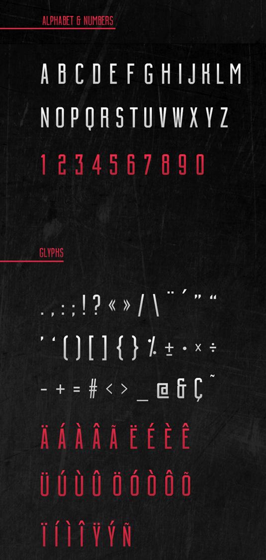 Free font: Building