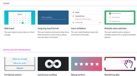 Web design tools: UI Patterns