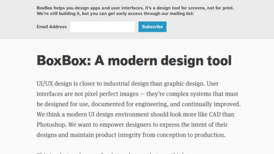Software made with UI designers in mind