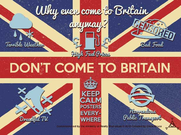 Don't Come To Britain poster by Chris Bruce