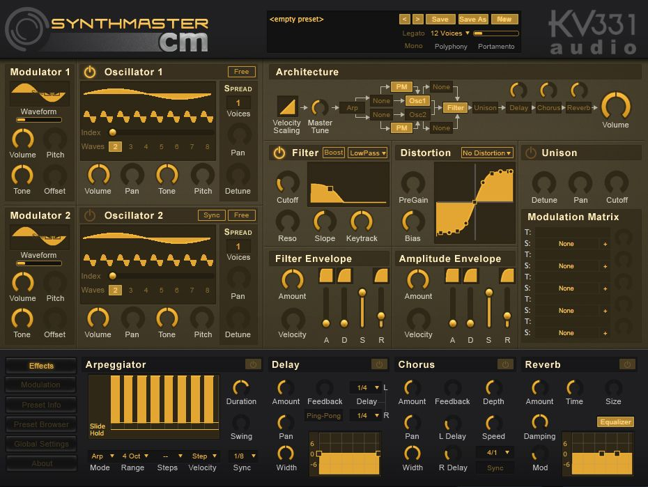 free synth vst  au plugin  kv331 audio synthmaster cm