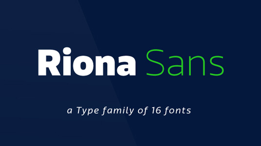 Free fonts: Riona Sans
