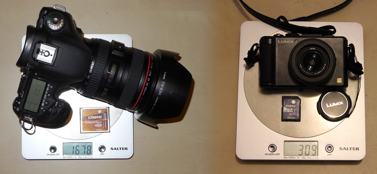 LX7 vs 7D weight